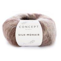 Silk Mohair, Braun-Winterweiss