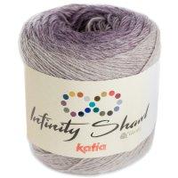 Infinity Shawl, Grau-Violett-Camel