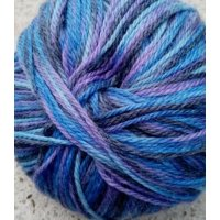 New Zealand Print, Blau-Hellblau-Lila-Anthrazit
