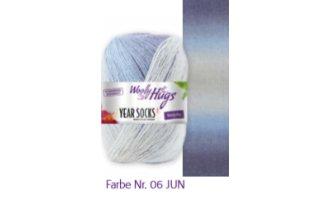 Year Socks, Helle Blau-Töne