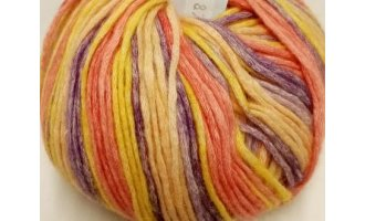 Woodstock color, Rot-Gelb-Apricot-Lila
