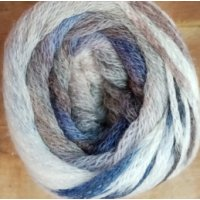 Melody Jacquard Print, Winterweiss-Blau