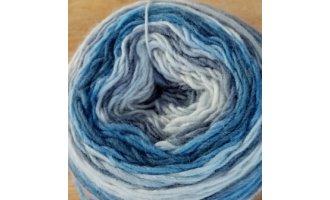 Merino 420, Grau-Silbergrau-Hellblau-Mittelblau