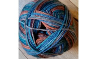 Mally Socks, Dunkelblau-Hellblau-Orange