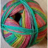 Mally Socks, Gelb-Grün-Pink-Lila