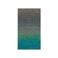 Mille Colori Socks & Lace, Petrol-Dunkelgrün-Apfel-Silbergrau