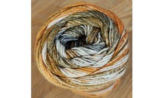 Karibik Cotton, Orange-Braun-Winterweiss