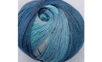 Sockenwolle, Dunkelblau-Hellblau-Grau