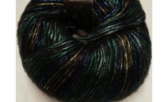 Glow, Schwarz mit Grün-Blau-Gold