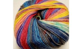 Knitcol, Blau-Rot- Violett-Gelb