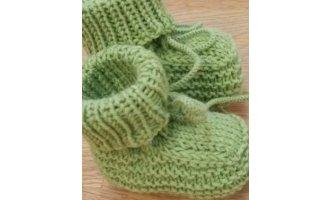 Baby-Schühchen, hellgrün