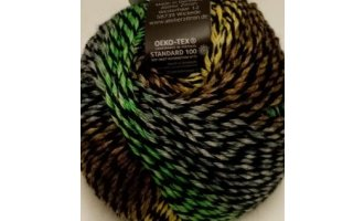 Intermezzo, Schwarz mit Gelb-Grün-Grau-Camel