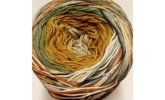 Fair Cotton Craft, Beige-Ocker-Lindengrün-Bunt
