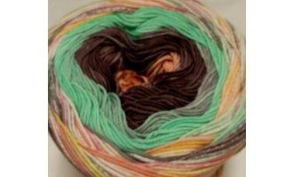Fair Cotton Craft, Altrosa-Braun-Grün-Bunt