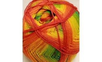 Sockenwolle, Regenbogen-Farben