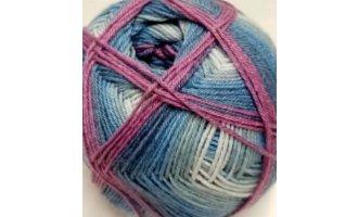 Sockenwolle, Blau-Töne-Lila-Altrosa