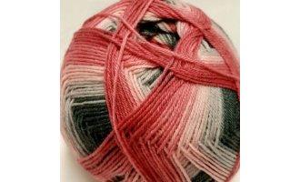 Sockenwolle, Anthrazit-Silbergrau-Rosa